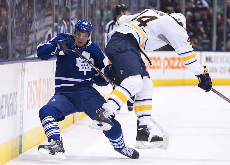 Maple Leafs beat Sabres 4-3 for 9th SO victory