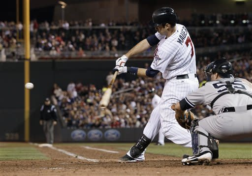 Logan can't hold Yankees lead in 5-4 loss to Twins