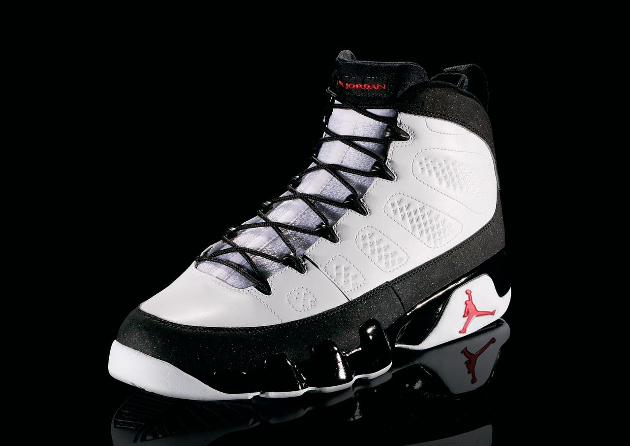 "<p>Air Jordan IX - ""Perfect Harmony"" (1994): Jordan retired before the release of this shoe, he never wore them in an NBA game. (Photo Courtesy of Nike)</p>"