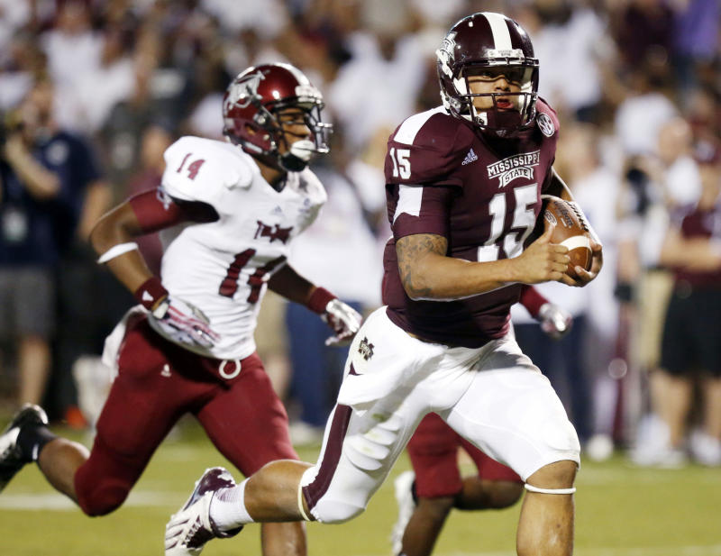 Mississippi St blows out Troy 62-7