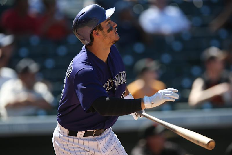 Dickerson homers twice, Rockies beat Giants 9-2