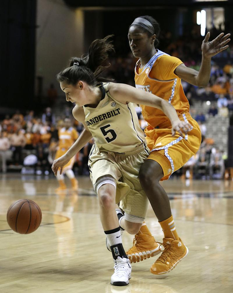 Vanderbilt upsets No. 8 Tennessee Lady Vols 74-63