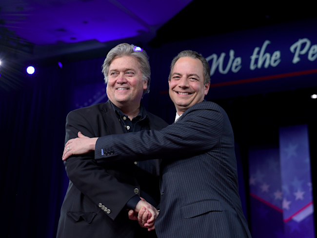 Steve Bannon & Reince Preibus on the Same Page at CPAC