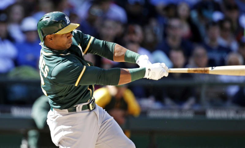 Cespedes' late HR lifts Athletics over Mariners