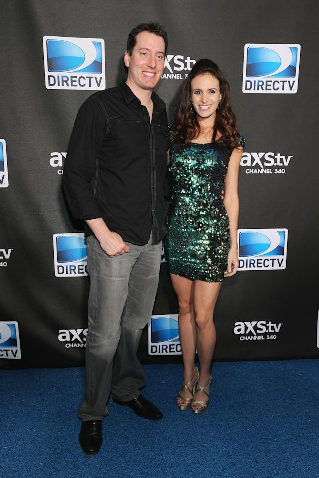 NEW ORLEANS, LA - FEBRUARY 02:  Kyle Busch and Samantha Busch attend DIRECTV Super Saturday Night Featuring Special Guest Justin Timberlake & Co-Hosted By Mark Cuban's AXS TV on February 2, 2013 in New Orleans, Louisiana.  (Photo by Neilson Barnard/Getty Images for DirecTV)