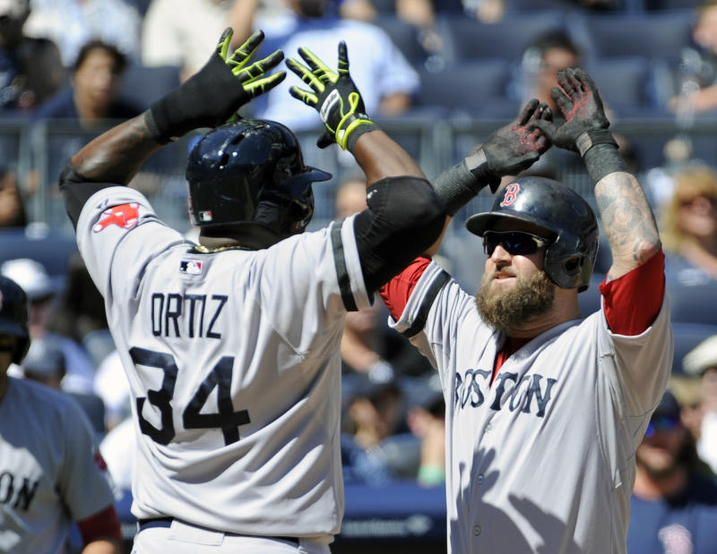 Napoli hits 2 HRs, Red Sox bash Yanks 13-9