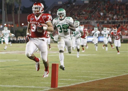 Sims helps Houston run past North Texas 44-21