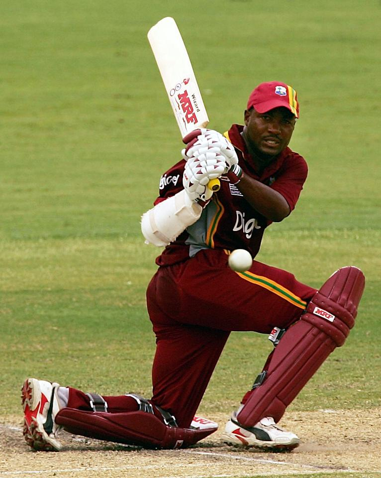 ADELAIDE, AUSTRALIA - JANUARY 28:  Brian Lara of the West Indies in action during game seven of the VB Series One Day International Tournament between Pakistan and the West Indies played at the Adelaide Oval on January 28, 2005 in Adelaide, Australia.  (Photo by Hamish Blair/Getty Images)