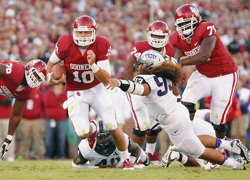 No. 11 Oklahoma holds off TCU 20-17