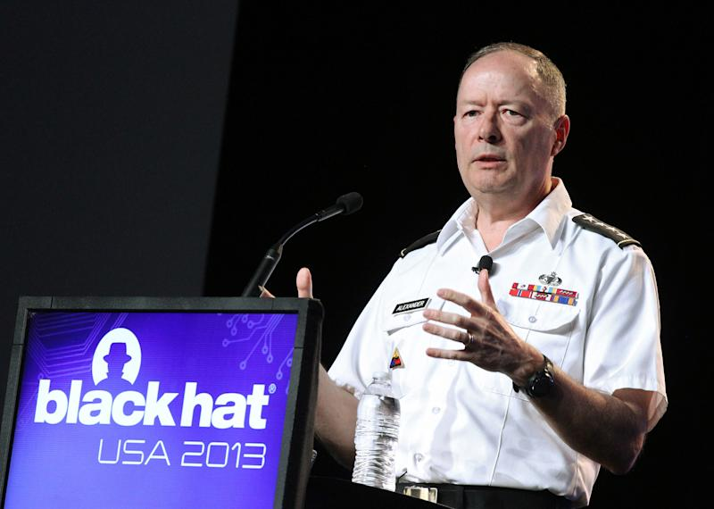 NSA chief talks at hackers' conference in Vegas