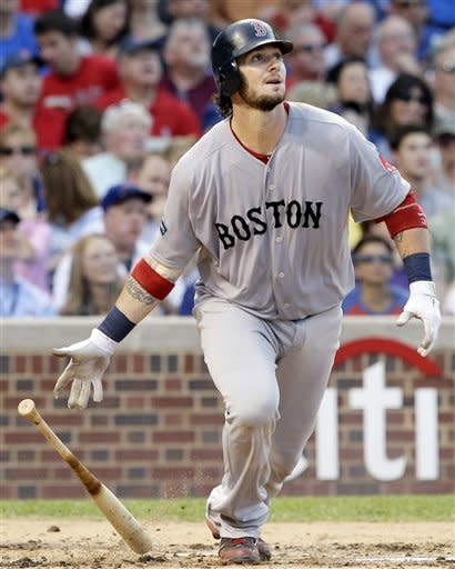 Saltalamacchia  leads Red Sox past Cubs, 4-3