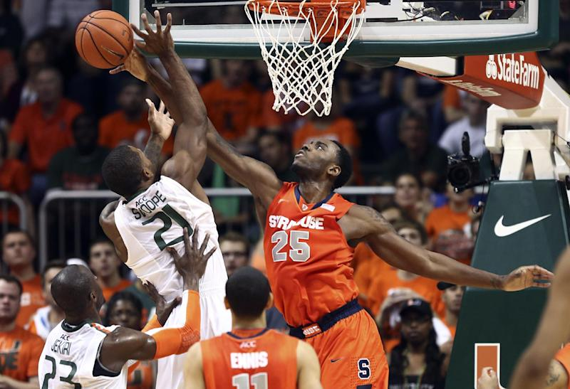 No. 2 Syracuse pulls away from Hurricanes 64-52