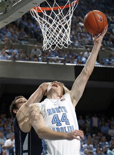 No. 5 North Carolina beats Monmouth 102-65