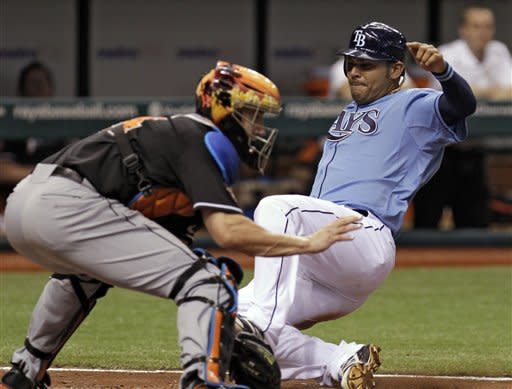 Moore helps Rays rout Marlins 11-0