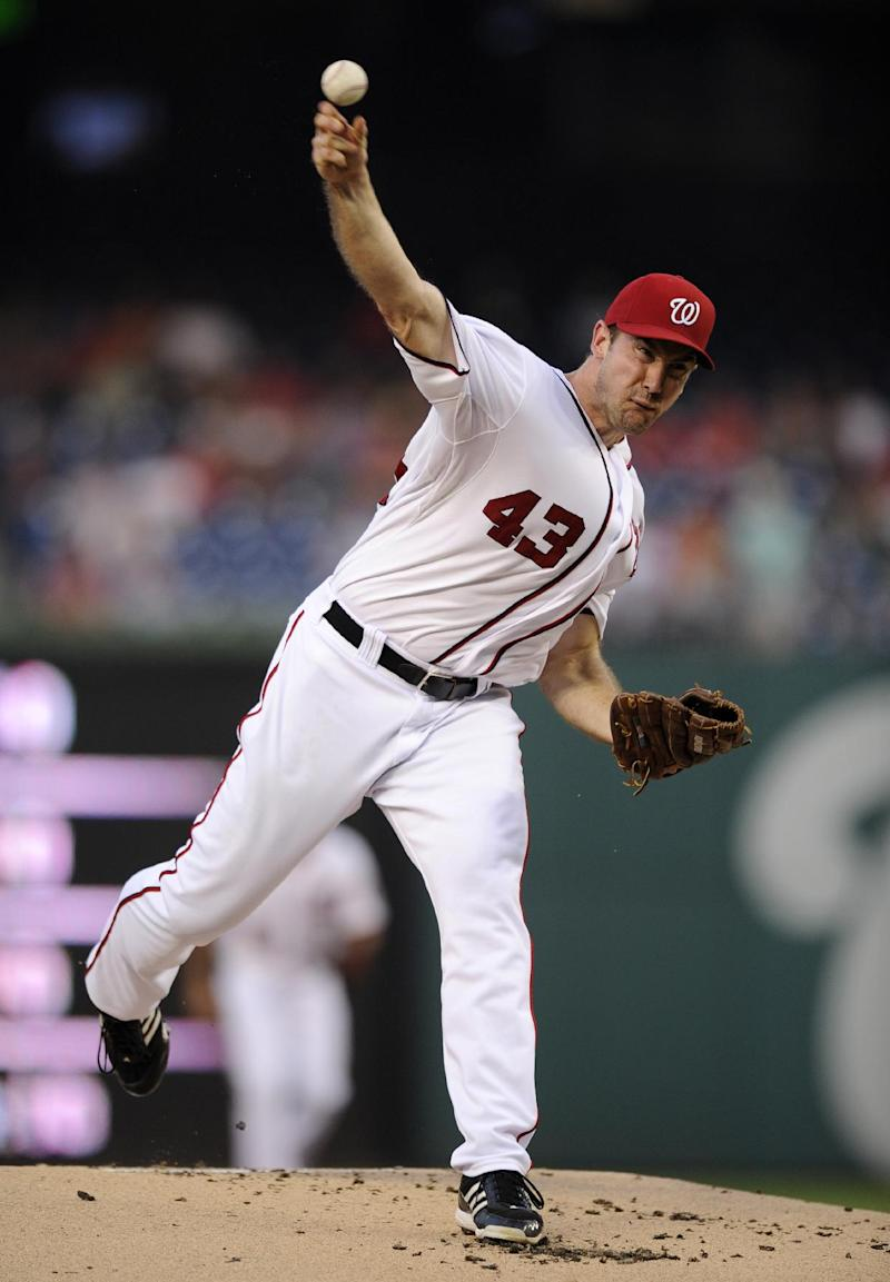 Ohlendorf pitches Nationals past Marlins 2-1