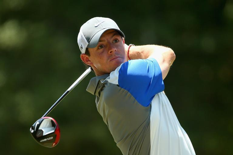 Rory McIlroy of Northern Ireland watches his tee shot on the third hole during the final round of the 114th U.S. Open at Pinehurst Resort & Country Club, Course No. 2 in Pinehurst, North Carolina on June 15, 2014
