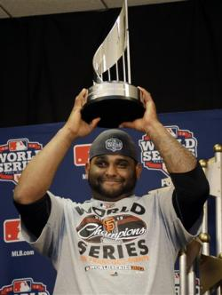 San Francisco's Pablo Sandoval was named the World Series MVP. (AP)