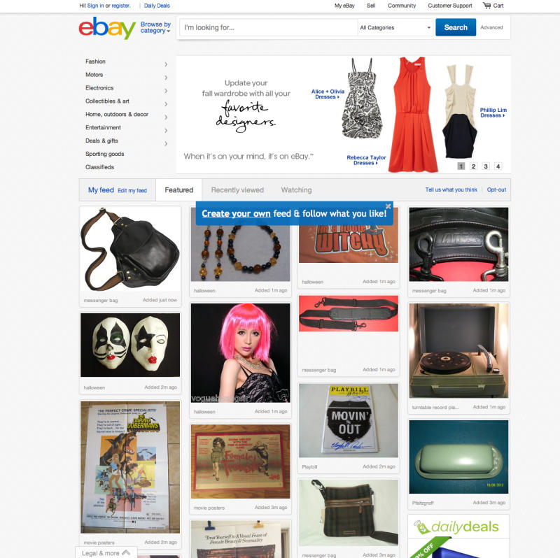 News Summary: EBay unveils big redesign