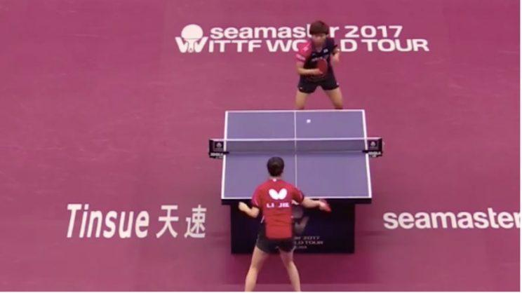 Two players hit amazing 766-shot table tennis rally