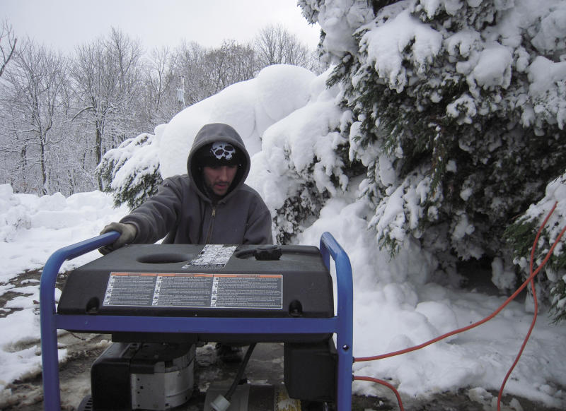Snowy Md. county struggles to recover from Sandy