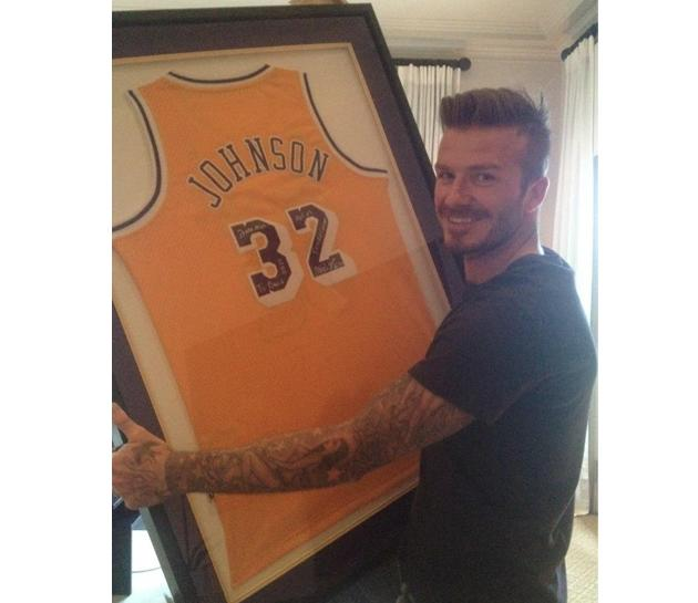 As a courtesy, Victoria washed the autograph off the jersey before framing it (facebook.com/Beckham)