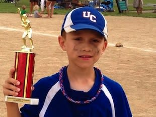 Dylan Williams, who died after being struck by a batted ball — Williams family photo