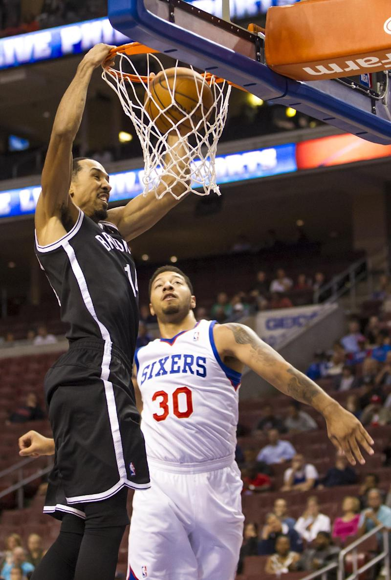 Nets romp past 76ers in preseason, 127-97