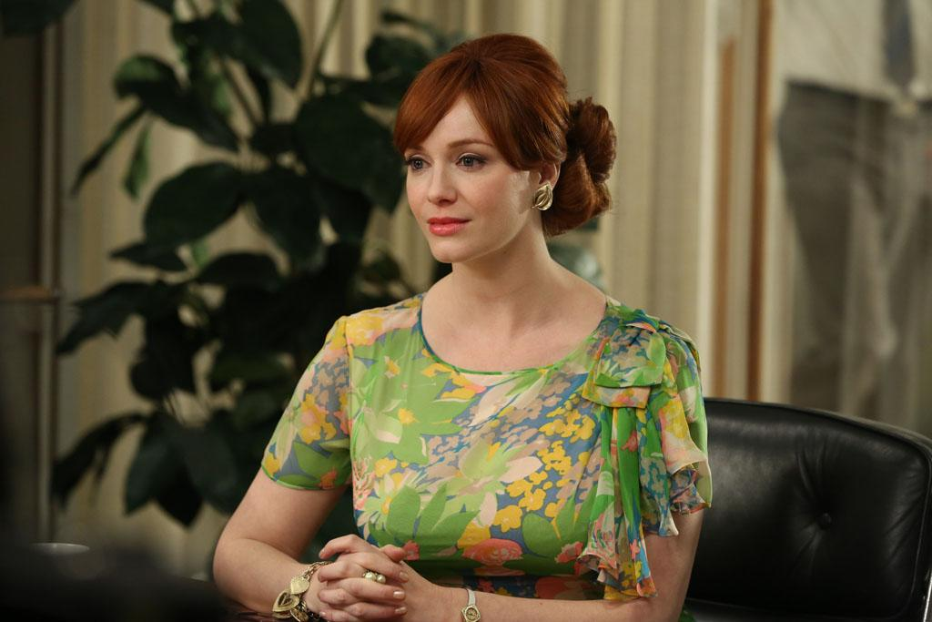 """Joan Harris (Christina Hendricks) in the """"Mad Men"""" episode, """"A Tale of Two Cities."""""""