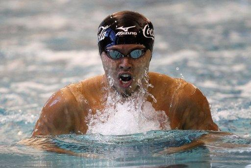 """Two-time double Olympic gold medallist Kosuke Kitajima, seen here during a competition in Atlanta, Georgia, last December, has said the death of world champion Alexander Dale Oen has left a """"big hole"""" in his heart before their much anticipated duel at the London Games"""