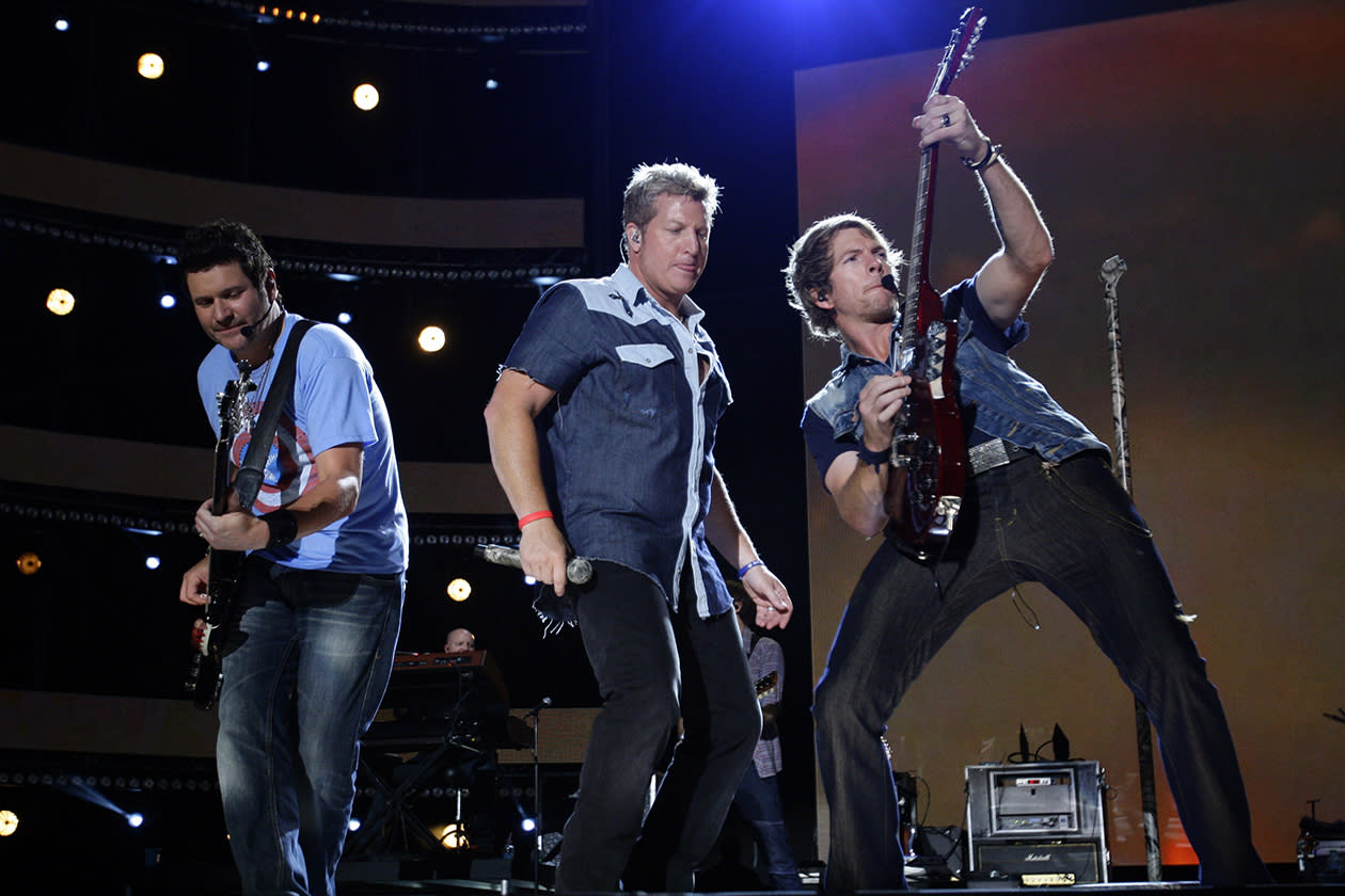 <b>19. Rascal Flatts - $10,777,282.68</b><br><br>Rascal Flatts performs at the 2012 CMA Music Festival in Nashville, Tenn.