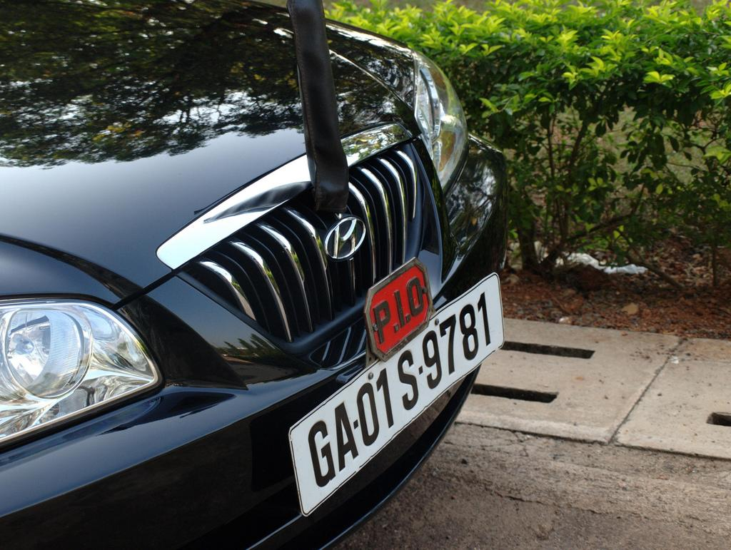Some of Goa's Portuguese charm lingers on in statements made by this modern car.