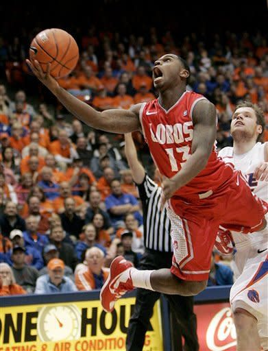 No. 19 New Mexico gets 79-74 OT win over Boise St