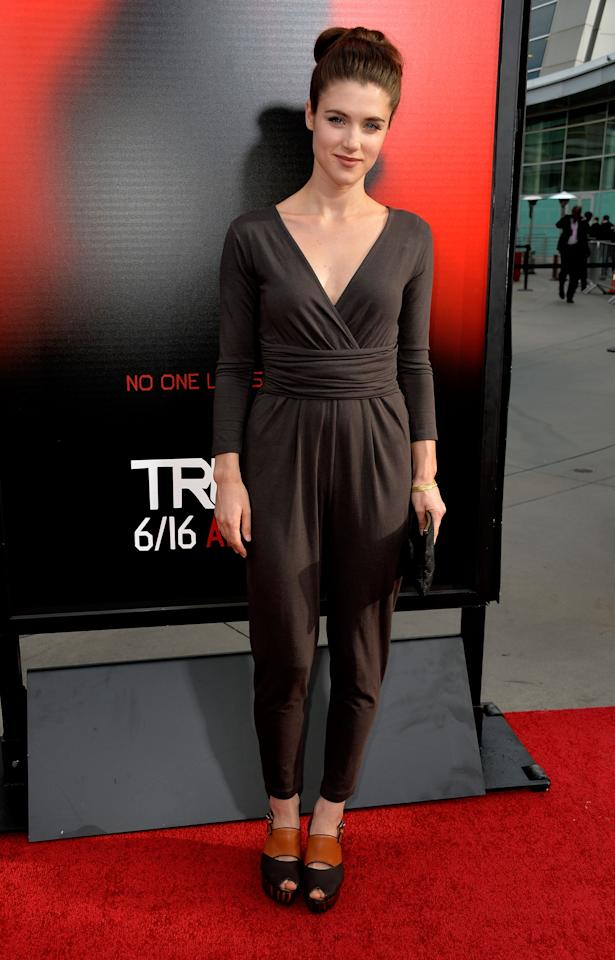 HOLLYWOOD, CA - JUNE 11: Actress Lucy Griffiths attends the premiere of HBO's 'True Blood' Season 6 at ArcLight Cinemas Cinerama Dome on June 11, 2013 in Hollywood, California. (Photo by Frazer Harrison/Getty Images)