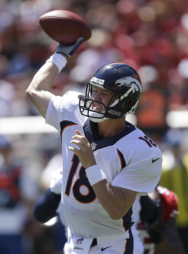 Manning dominant for Denver in win over 49ers