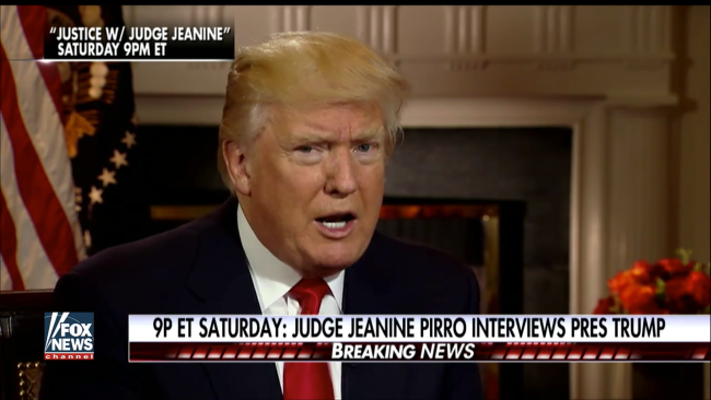 Saturday, 9pm ET: Watch Judge Pirro's Sit-Down With Pres
