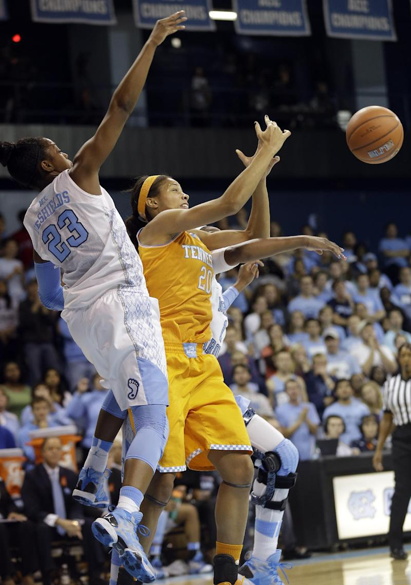 No. 4 Tennessee women beat No. 12 UNC 81-65