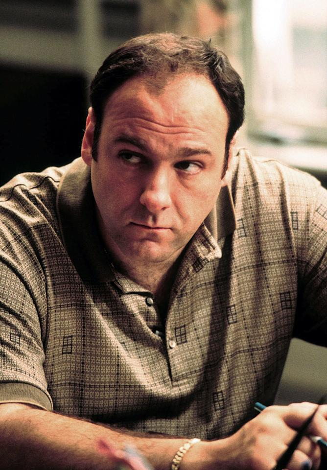 """FILE - This 1999 file photo released by HBO shows actor James Gandolfini as Tony Soprano in the critically acclaimed HBO series """"The Sopranos."""" HBO and the managers for Gandolfini say the actor died Wednesday, June 19, 2013, in Italy. He was 51. (AP Photo/HBO, Anthony Nesta, file)"""