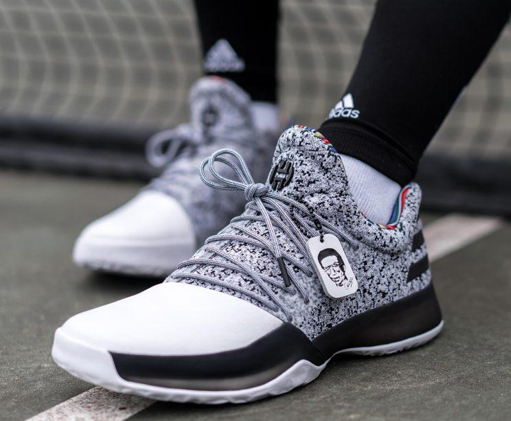 James Harden's Black History Month sneakers. (Courtesy of adidas)