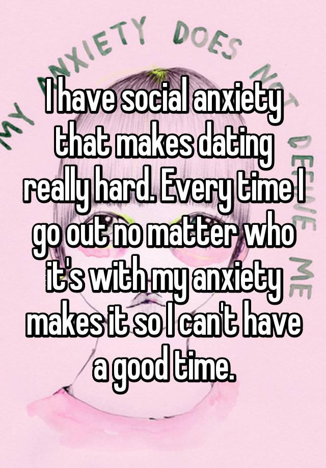 social anxiety dating online