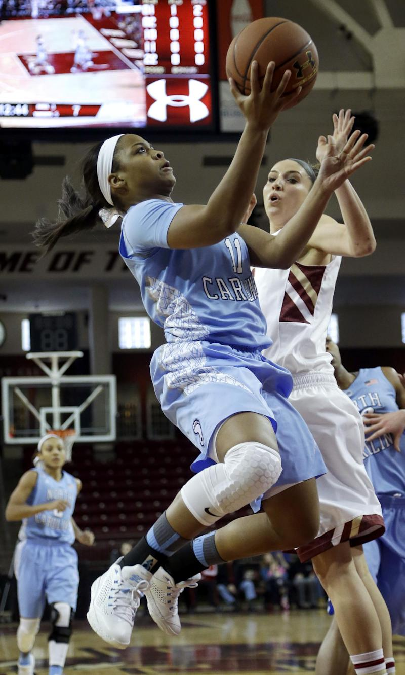 No. 9 N Carolina women beat BC 73-56