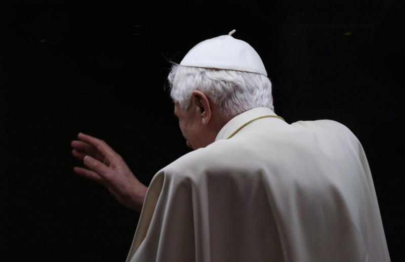 Pope shows lifetime jobs aren't always for life