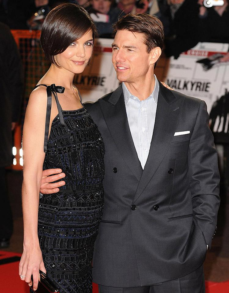 LONDON - JANUARY 21:  Katie Holmes and Tom Cruise attend the UK premiere of Valkyrie at Odeon Leicester Square on January 21, 2009 in London, England.  (Photo by Eamonn McCormack/WireImage)