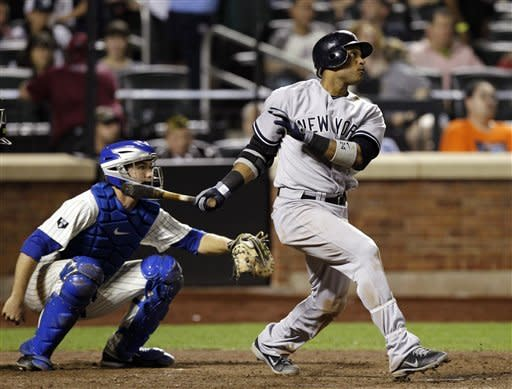 Cano, Yankees touch up Dickey in 6-5 win over Mets