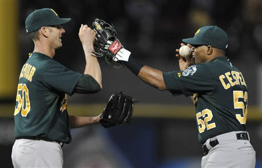 Rosales homers in 10th inning, helps A's win