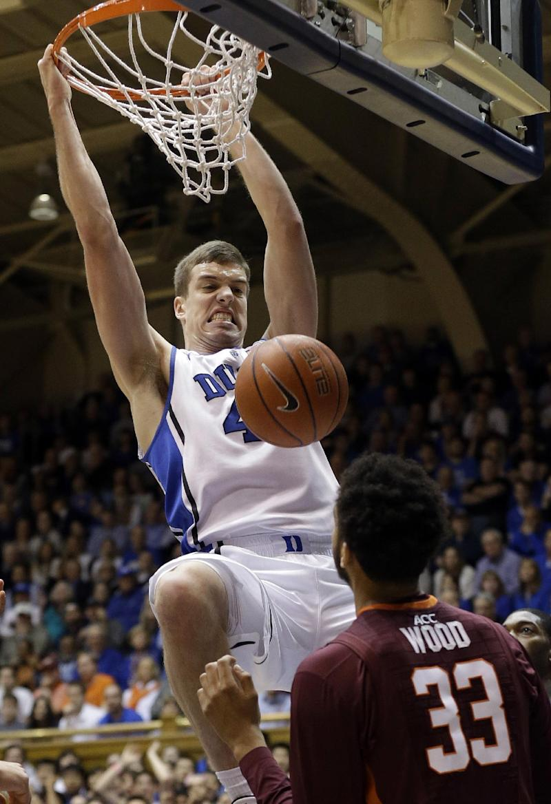 No. 6 Duke beats Virginia Tech 66-48