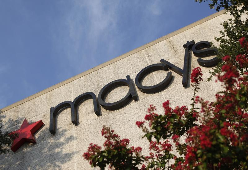A sign marks the entrance to a Macy's store in Dallas