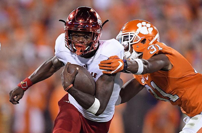 Lamar Jackson gets a rematch with Clemson on Sep. 16. (Getty)