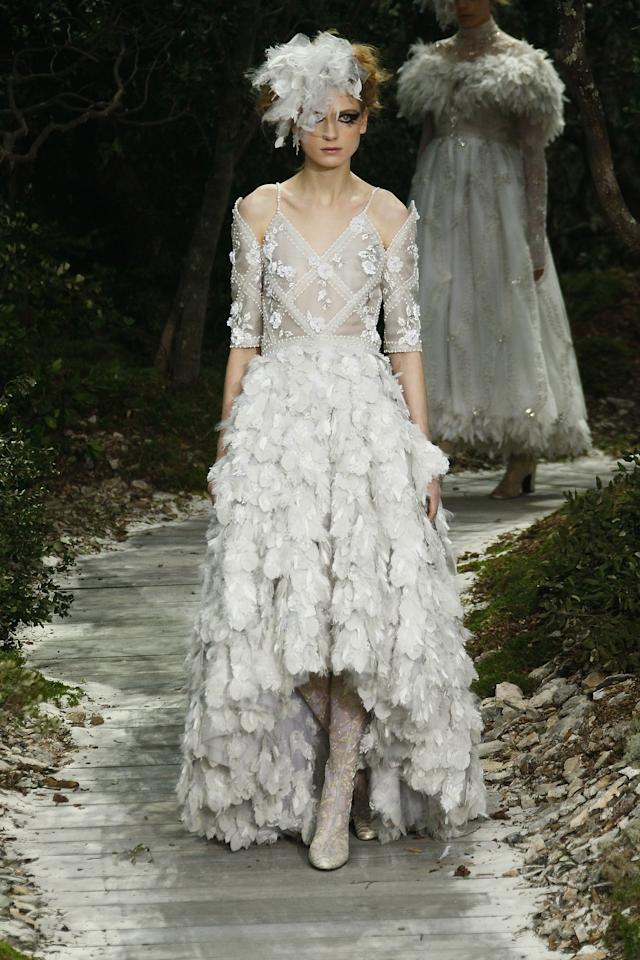PARIS, FRANCE - JANUARY 22:  A model walks the runway during the Chanel Spring/Summer 2013 Haute-Couture show as part of Paris Fashion Week at Grand Palais on January 22, 2013 in Paris, France.  (Photo by Julien M. Hekimian/Getty Images)