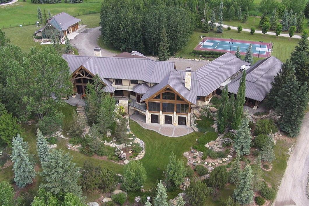 """<p>No. 4: <a rel=""""nofollow"""" href=""""http://sothebysrealty.ca/en/property/alberta/calgary-real-estate/calgary/63209/"""">242004 Range Road 32, Calgary, Alta.</a><br />List price: $30,000,000<br />Kestrel Ridge Farm isn't exactly your average farm; the home has six bedrooms and six bathrooms, and sits on 160 acres on the Elbow River. The luxury log home has a tennis court, indoor salt-water swimming pool, and is home to a world-class equestrian and dressage training facility, designed to host National Horse Shows. Last year, the home was No. 6 on the list. (Photo: Sotheby's International Realty Canada) </p>"""