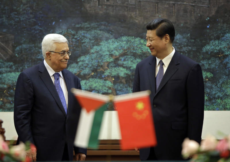 China hosting both Palestinian, Israeli leaders